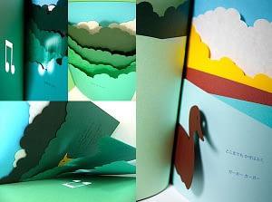 Subtle pop-up worlds made of paper