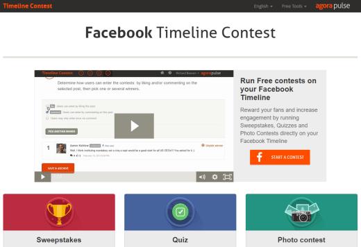 facebook timeline contests