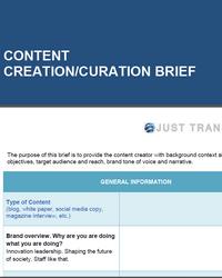 Content Creation Brief